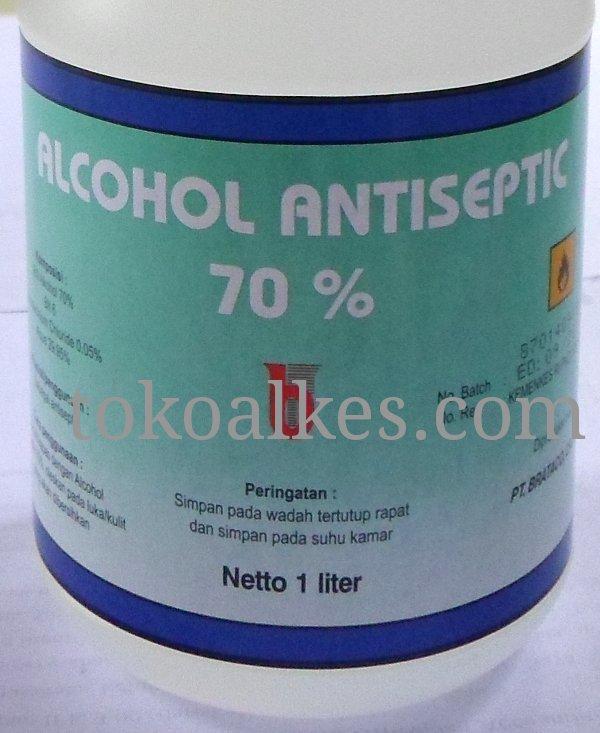 Alkohol 70 % Kemasan Botol 1 Liter Brataco - tokoalkes.com